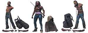 "THE WALKING DEAD SERIES 3 - MICHONNE - PET ZOMBIE 1 - PET ZOMBIE 2 - INDIVIDUALLY CARDED - 5"" SCALE"