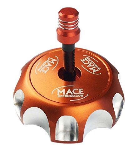 1 NEW ORANGE BILLET CNC FUEL GAS CAP FITS RAPTOR 660 350 WARRIOR BLASTER YFZ 450/R BANSHEE (Yfz 450 Gas Cap Vent Hose compare prices)