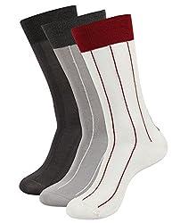 Balenzia Men's Mercerized Socks (Pack Of 3) (Jagmini39_Multi)