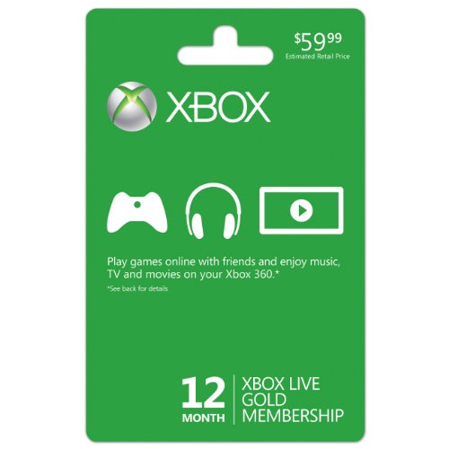 Xbox Live 12 Month Gold Membership Picture