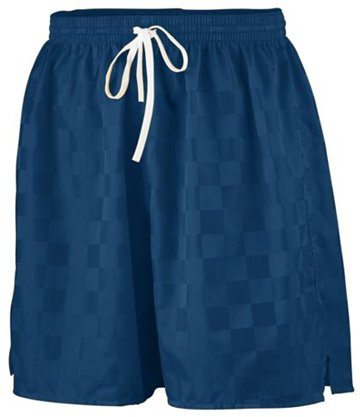 Augusta Long Length Checkerboard Nyon Soccer Short Navy L front-856153