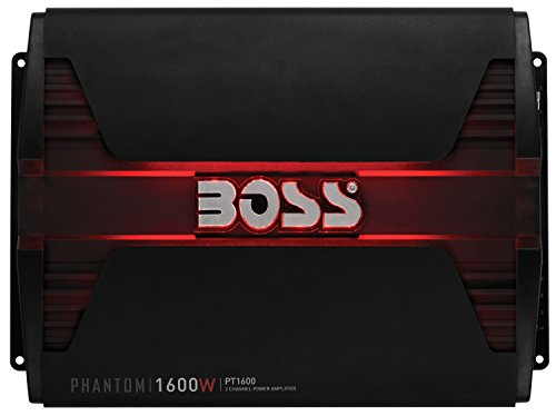 BOSS AUDIO PT1600 Phantom 1600-Watt Full Range, Class A/B 2 to 8 Ohm Stable 2 Channel Amplifier with Remote Subwoofer Level Control (Sports Oasis 1200 compare prices)