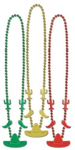 Fiesta Beads (asstd gold, green, red)    (3/Card) - 1