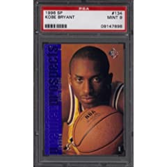 1996 97 SP KOBE BRYANT RC ROOKIE CARD #134 MINT PSA 9 LOS ANGELES LAKERS by SP