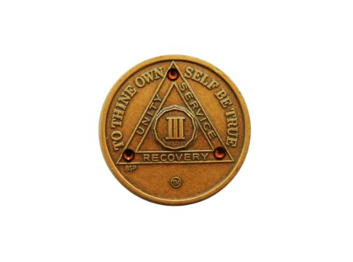 Bronze Anniversary Medallions with Topaz Crystals (30 Inches)