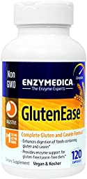 Enzymedica - GlutenEase, Complete Gluten & Casein Formula with Digestive Enzymes, 120 Capsules
