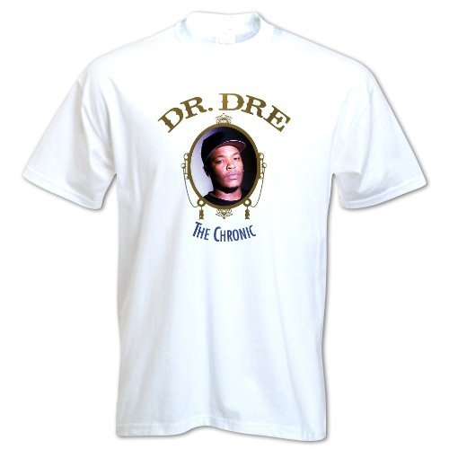 Bang Tidy Clothing Men'S 80S Vintage Old School T-Shirt Dr Dre The Chronic Hip Hop Death Row Music X-Large White