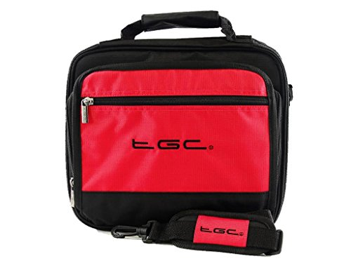 sony-dvp-fx820-r-portable-dvd-player-twin-compartment-case-bag-by-tgc-r-crimson-red-black