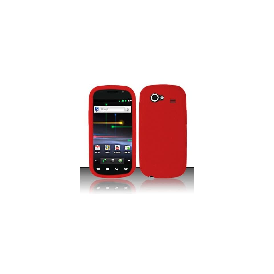 Red Soft Silicone Skin Gel Cover Case for Samsung Nexus S