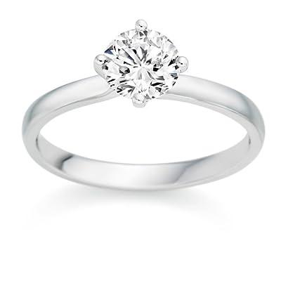 1/2 Carat F/VS1 Round Brilliant Certified Diamond Solitaire Engagement Ring in Platinum