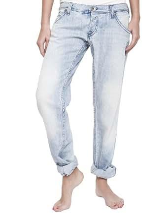 Replay - Jeans - Boyfriend Femme - Bleu - Bleu (jeans) - FR : 25 W/Short (Brand size : 25/SHORTS)
