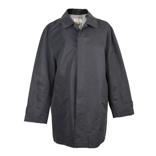 MICHAEL Michael KorsMichael Kors Men's Black Heather Lightweight Trench Coat US XL EU 54