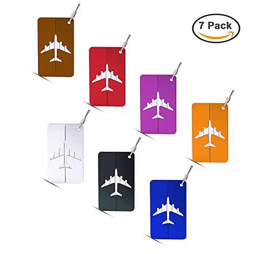 Hibate Metal Luggage Tags Suitcase Bag Labels