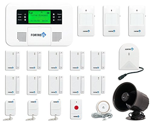 Fortress Security Store (TM) GSM-E Wireless Cellular GSM Home Security Alarm System DIY Kit with Auto Dial