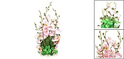 Aquarium Fish Tank 45Cm High Artificial Water Grass Plant Decor Green Pink