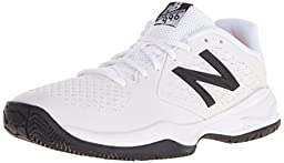 New Balance KC996 Youth Tennis Shoe (Little Kid/Big Kid), White/Silver, 6 M US Big Kid
