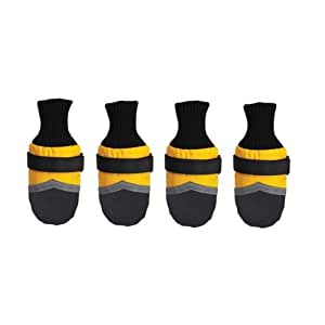 Guardian Gear Oxford Dog Boots, X-Large, 4-3/4-Inch, Yellow