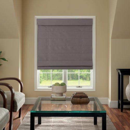 Cordless Fabric Roman Shade Dark Gray 31x64 (Roman Shades For Windows compare prices)
