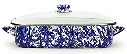 Golden Rabbit Lasagna Pan with Lid, Cobalt