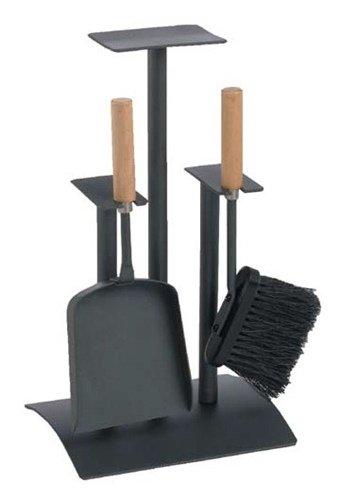 kaminbesteck kamingarnitur kaminzubeh r anthrazit beschichtet griffe buche hier g nstig. Black Bedroom Furniture Sets. Home Design Ideas