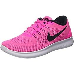 Nike Free RN Running Womens Shoe (Black/White/Pink)