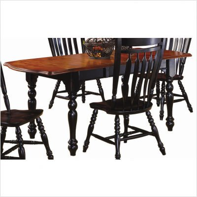 Buy Low Price Sunset Trading Sunset Selections Drop Leaf Extension Table Finish: Antique Black / Cherry (DLU-TDX-3472)