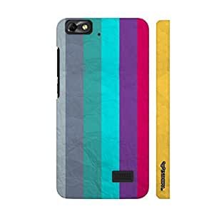 Huawei Honor 4C PAPER STRIPES designer mobile hard shell case by Enthopia