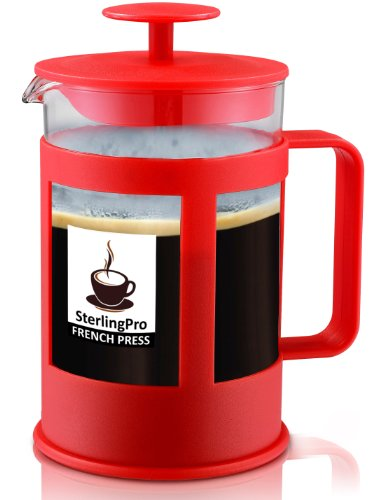 SterlingPro 6 Cup French Coffee Press, Unique Double Screens