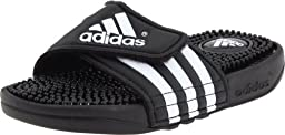 adidas Adissage Sandal (Toddler/Little Kid/Big Kid),Black/White/Black,4 M US Big Kid