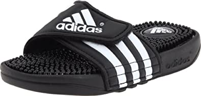 adidas Adissage Sandal (Toddler/Little Kid/Big Kid),Black/Running White/Black,10 M US Toddler