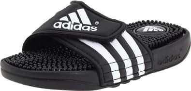 adidas Adissage Sandal (Toddler/Little Kid/Big Kid),Black/White/Black,10 M US Little Kid