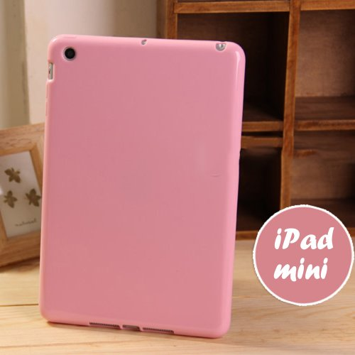 iPad Mini / Mini 2 Retina / Mini 3 Jelly Case, ANLEY Candy Fusion Series - [Shock Absorption] Jelly Silicone Bumper with Frosted Clear Hard Back Cover for Apple iPad Mini 3, 2 & 1 (Baby Pink) (Ipad Mini Back Cover Pink compare prices)