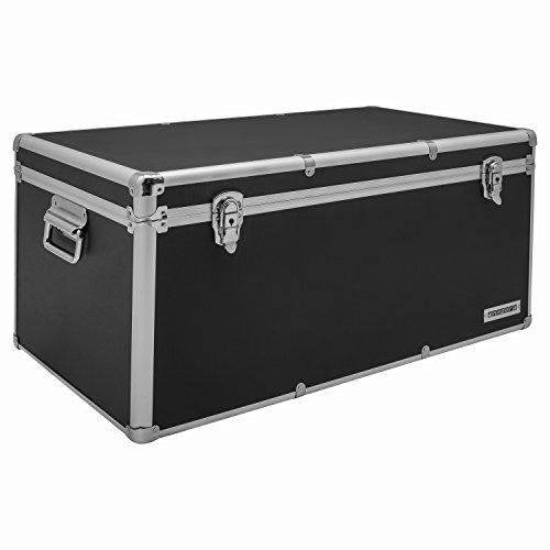 Aluminium-Rahmenkoffer-Transport-Box-Koffer-in-Schwarz-mit-82-Liter-Volumen