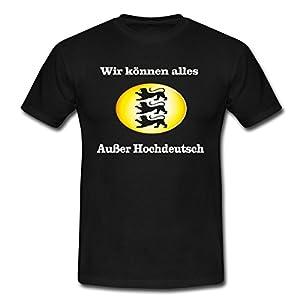 """Spreadshirt Herren T-Shirt """"Wir können alles"""" T-Shirt"""