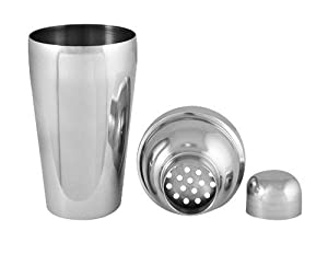 8 oz. - 3 Piece Stainless Steel Cocktail Shaker