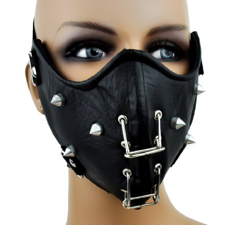 Metal Ring and Spike Biker Motorcycle Riding Mask
