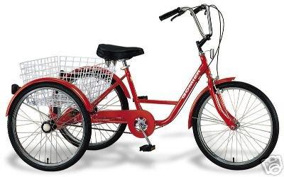 Bike+More Dreirad 24 Zoll Fahrrad Behindertenfahrrad Therapierad mit Shimano Nexus 3-Gang Schaltung
