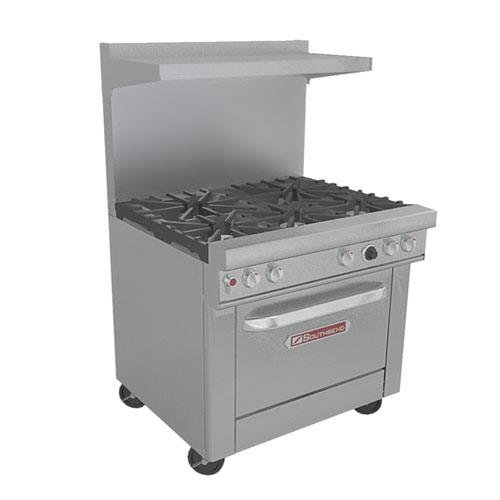 "Southbend 4365D 36 1/2"" Restaurant Mixed Top Range - Ultimate 400 Series"