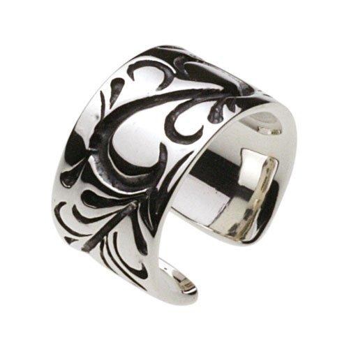 [シルバーイヤーカフ] Arabesque Arabesque harmony pattern tradition pattern men's silver jewelry cenote-e0102