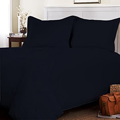 Egyptian cotton Duvet Cover 800 TC Solid (King, Navy Blue) By Fantasy Nap promo code 2015