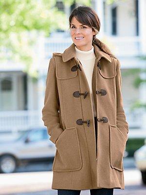 Camel Wool Toggle Coat