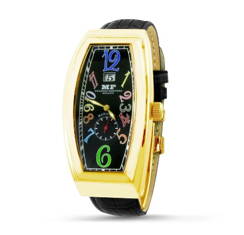Franchi Menotti Men's 4001 Banana Collection Black with Numbers Dial Watch