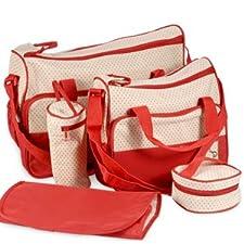 Surepromise Ensemble sacs à langer de qualité 5pièces Rouge
