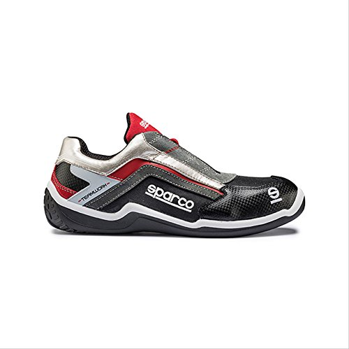 rally-low-s1p-safety-shoes-42-rouge-argent