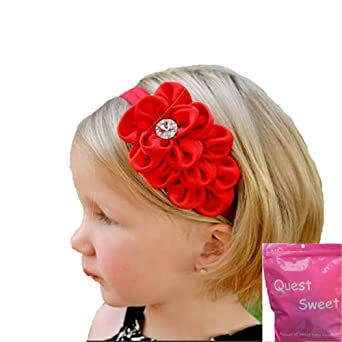 Qs 6 Pieces Babys Headbands Girl's Beautiful Big Flower Head Band (6 Pack)