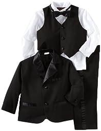 Joey Couture Little Boys\' Little Tuxedo No Tail Suit,Black,3