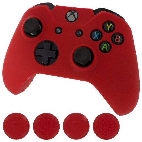 Generic New Silicone Cover Case Skin Controller & grip stick caps for Xbox one (red) (Xbox One Controller Stick Covers compare prices)