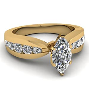 Engagement Ring Channel Set 1.50 Ct Marquise Cut SI2 Diamond IGI Certificate # S3H62500