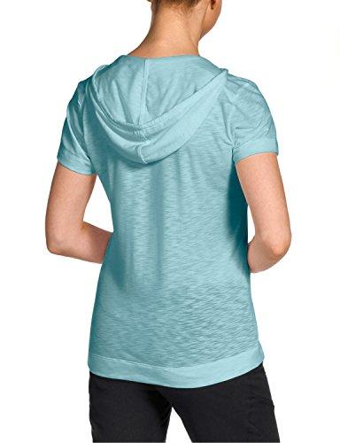 Jack Wolfskin Damen Shirt Travel Hoody T Women, Aquatic Blue, XXL, 1802571-1120006