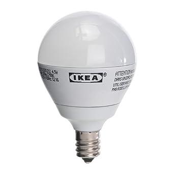 ikea ledare e12 200 lumen 3 5 watts small led light bulb opaque led household light bulbs. Black Bedroom Furniture Sets. Home Design Ideas